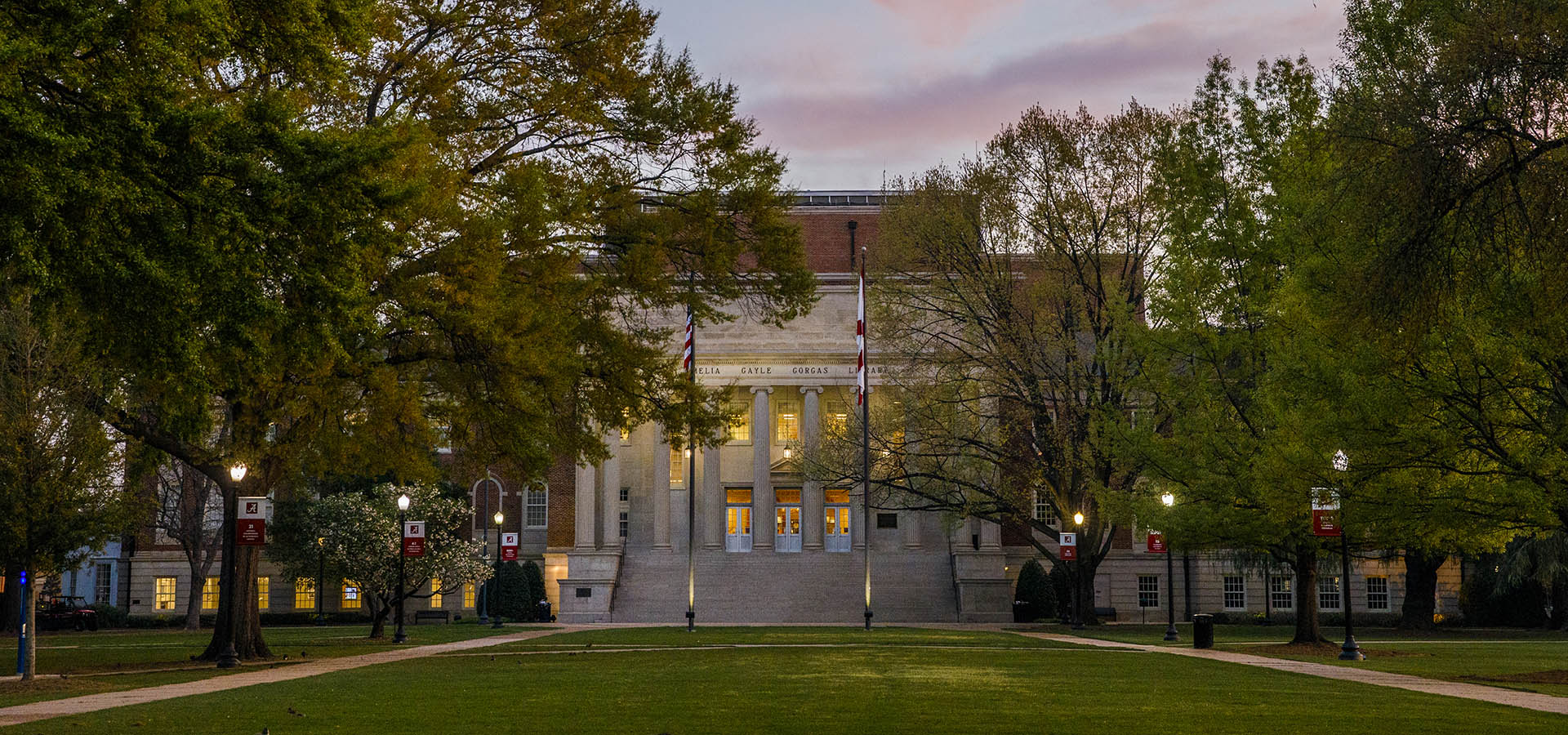 Gorgas library at sunset